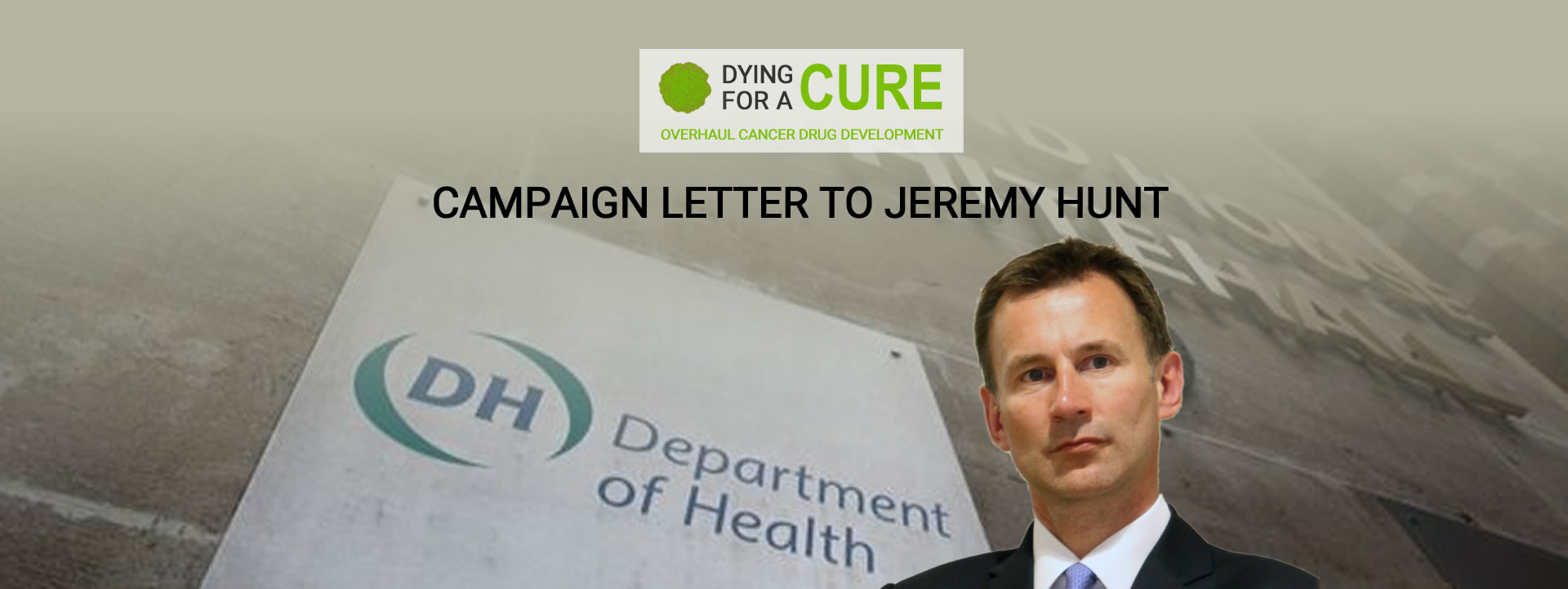 Campaign Letter To Jeremy Hunt
