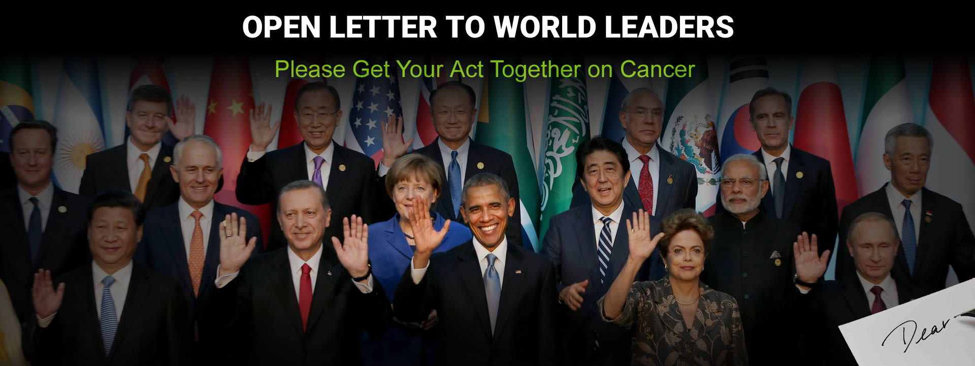 Cancer Letter to World Leaders